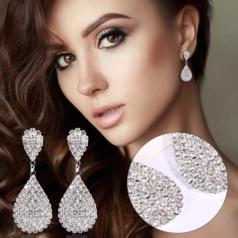 Women Earrings Alloy Ear Rings Studs Fashion Jewelry Women Crystal Earrings for Women Jewelry Bohemian Stud Earring Set Droplets