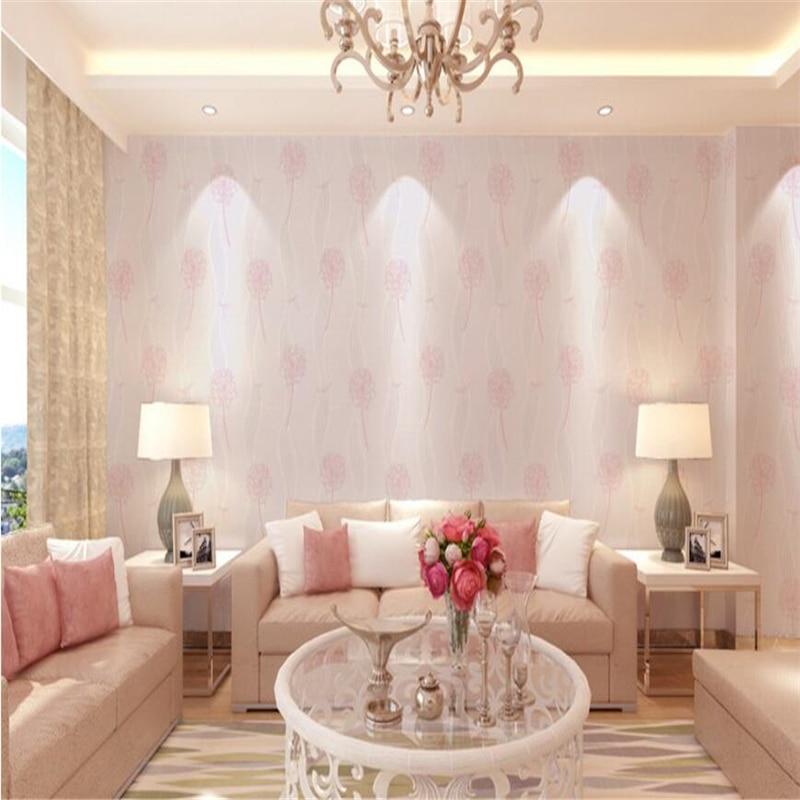 ФОТО beibehang Modern fashion dandelion wallpaper living room non - woven wall paper papel de parede 3d para sala atacado papier