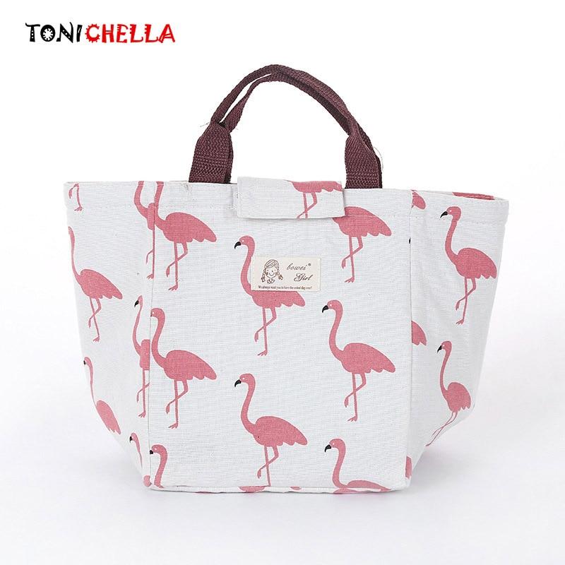 Baby Milk Bottle Insulation Flamingo font b Bags b font Waterproof Portable font b Lunch b