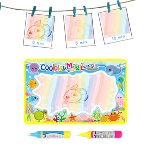 Image 4 - Coolplay Animal Themes Rainbow Water Drawing Mat & 2 Pens Water Doodle Mat Coloring Books Water Painting Rug Xmas Gift for Kids