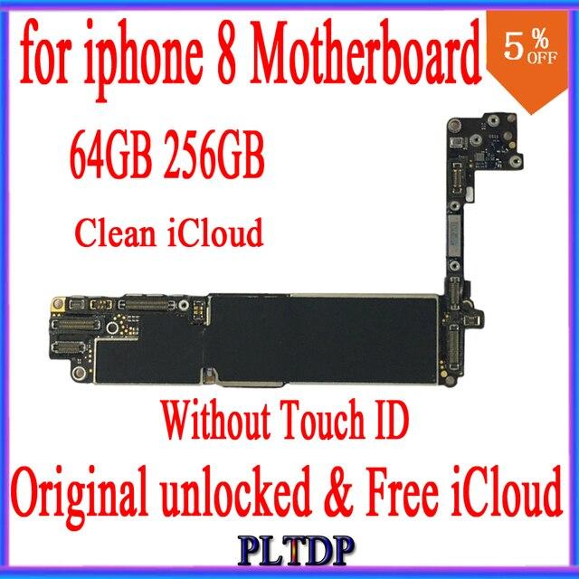 64GB 256GB iphone 8 için anakart IOS sistemi ile, 100% orijinal kilidi olmadan dokunmatik kimlik, ücretsiz iCloud