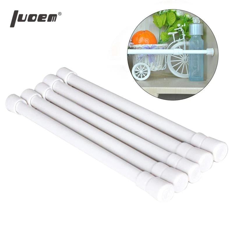luoem 5 pcs punch free bathroom shower curtain rod adjustable shower curtain tension rod extendable bath curtain pole