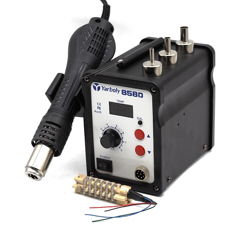 700W 858D ESD Soldering Station LED Digital desoldering station BGA Rework Solder Station Hot Air Gun
