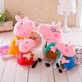 2016 Новый 19-30 см Розовый Свинья семья Мама Папа Джордж свинья Peppaed игрушки куклы Супер Мило Семья Плюшевые куклы игрушки для детей со дня рождения подарок