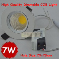 Wholesale 50pcs Lot High Quality Dimmable 7w Ceiling Downlight Cob Led Lamp Recessed Cainet Wall Bulb