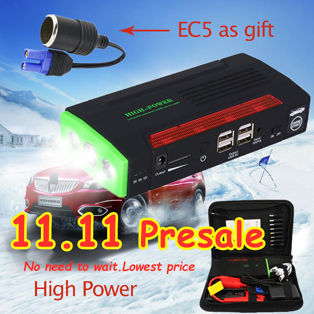 New Car Jump Starter 68800mAh for Petrol Car Battery Charger Emergency Starting Device High Power Pack Bank Car Charger Booster цена