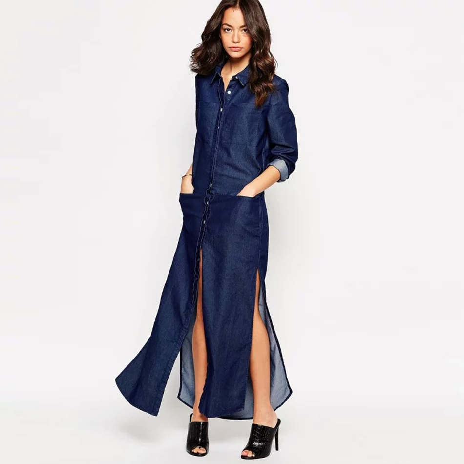 Buy women clothing spring summer long Women s long sleeve shirt dress