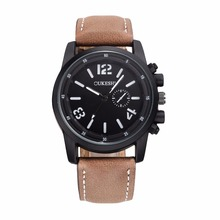 OUKESHI Chinese Top Brand New Fashion Watch Men Leather Strap Out-door Sports Style Casual Quartz Wristwatch relogio masculino
