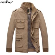 LetsKeep 2017 Tactique coupe-vent veste hommes collier de stand occasionnel militaire outwear manteau hommes automne Multi-poche vestes MA401