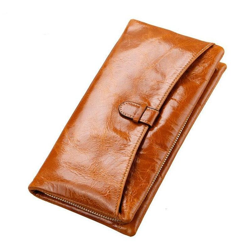 2017 Fashion Women's Genuine Leather Wallet Female Vintage Card Holder Credit Card Coin Purse Wallets Clutch long Wallet handbag
