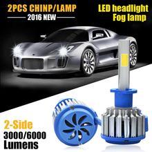Автомобиль СВЕТОДИОДНЫЕ Фары H1 6000LM Супер Мощность Замена СВЕТОДИОДНАЯ Лампа Комплект противотуманных фар