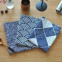 40*70 см секторный плед морские волны японский стиль коврик Салфетка десертный стол салфетки чайные полотенца кухонные салфетки для посуды
