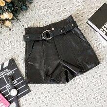2019 New Fashion Genuine Sheep Leather Shorts Y39