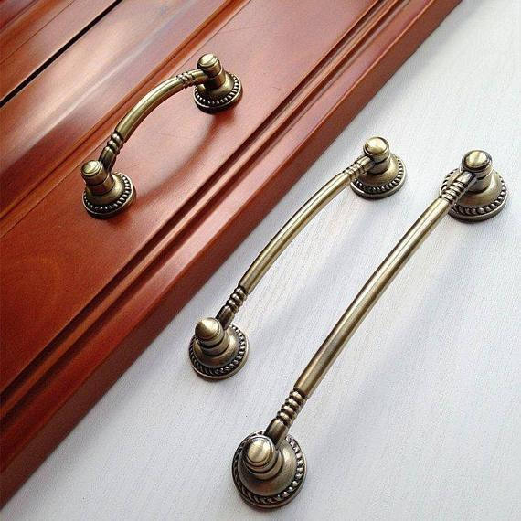 2.5'' 3.75 5 Vintage Dresser Drawer Pulls Handles Knobs Antique Bronze Rustic Kitchen Cabinet Door Handle Pull Knob Hardware 6pcs bronze chinese door handle wardrobe handle kitchen knobs cabinet hardware vintage handles decorative knob asas para cajones