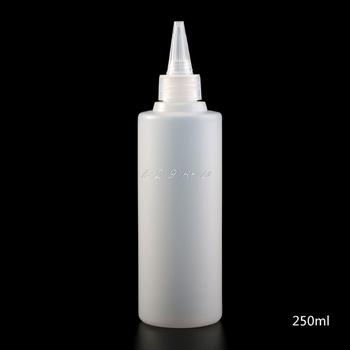 1PC biały 250ML aplikator kleju squeeze butelka dla ozdoby papierowe DIY papier do scrapbookingu narzędzie rzemieślnicze tanie i dobre opinie Plastic Laboratorium butelki 4N518059 Białe przezroczyste 250 ml