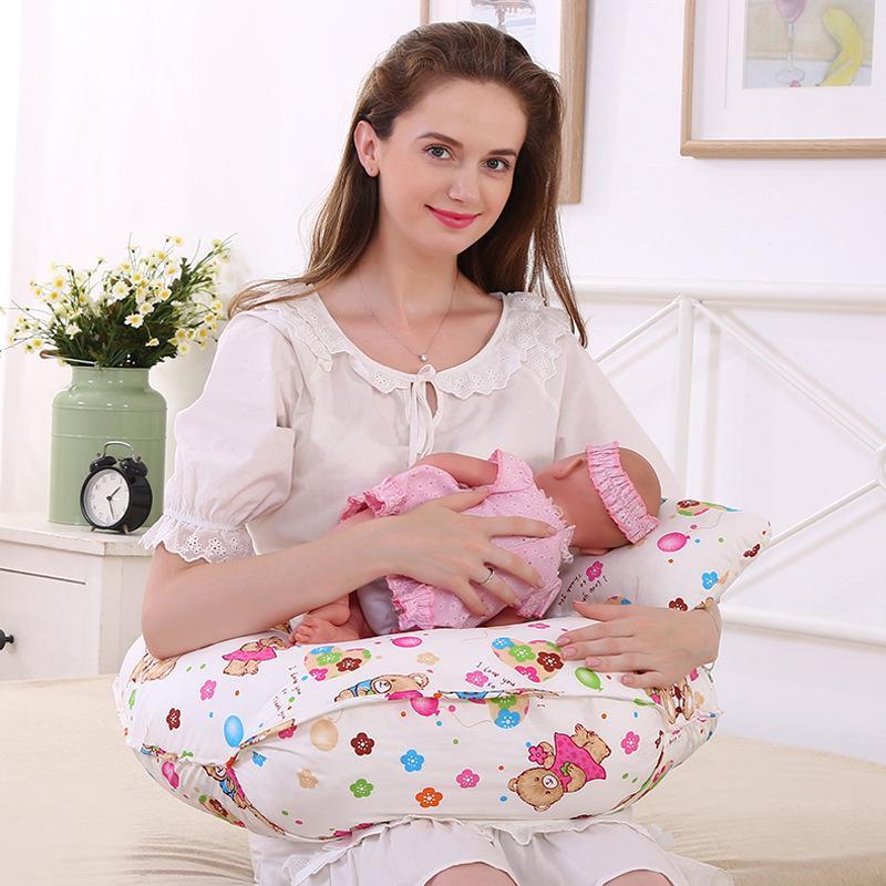 купить Breastfeeding Cushion Breastfeeding Pillows Baby Head Protection Nursing Pillow U-Shaped Infant Cuddle Pillow for Baby Feeding по цене 3144.2 рублей
