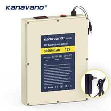 Kanvnano 12 В 30Ah большой емкости перезаряжаемая литиевая батарея 18650 батарея Защитная плата с 5А зарядное устройство подарок DIY линия