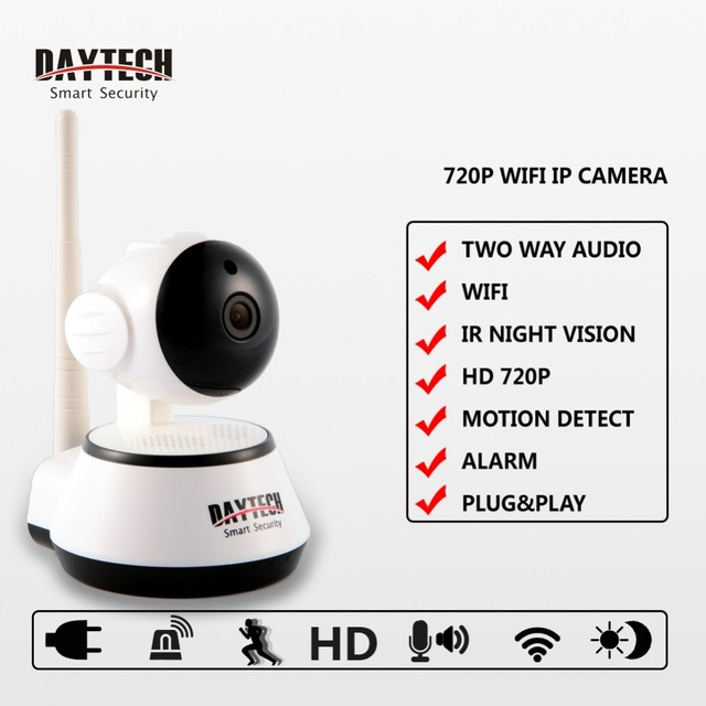 Daytech Home cámaras de Seguridad Ip Wifi Mini Cámara Inalámbrica Cámara de Vigilancia 720 P Visión Nocturna Cámara CCTV Bebé CameraDT-C8815