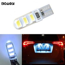 BOAOSI 1x super bright License plate Light No Error T10 5630SMD LED For Opel Adam Corsa C Corsa C Combo Corsa D Astra H