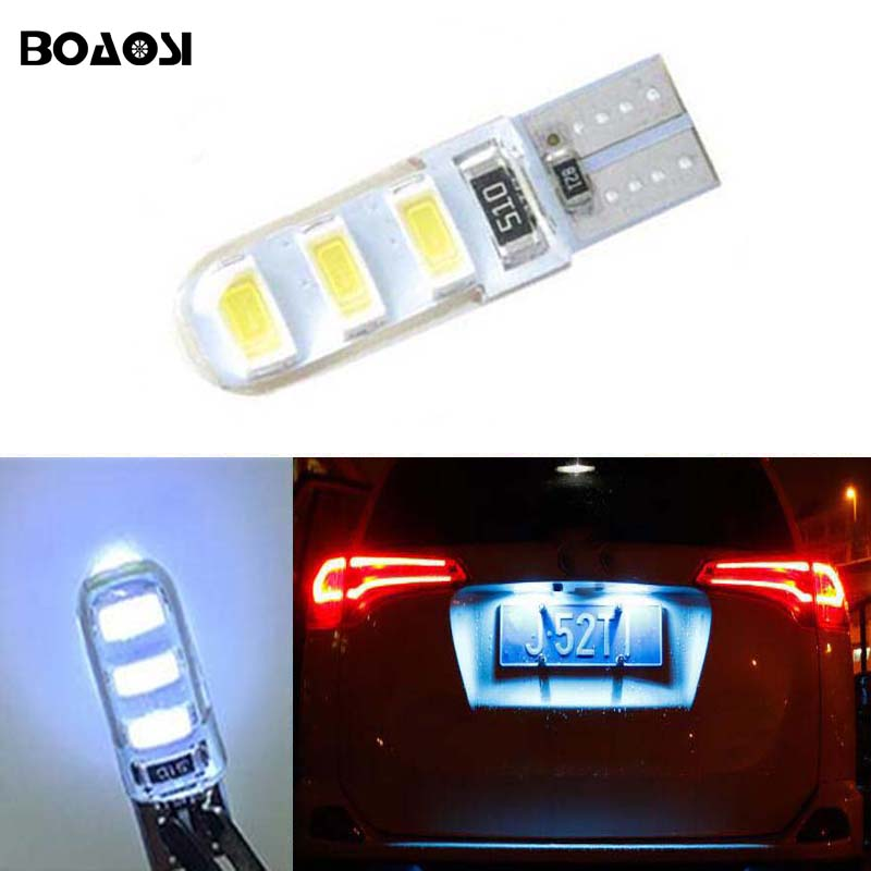 BOAOSI 1x super bright License plate Light No Error T10 5630SMD LED For Opel Adam Corsa C Corsa C Combo Corsa D Astra H motorcycle tail tidy fender eliminator registration license plate holder bracket led light for ducati panigale 899 free shipping