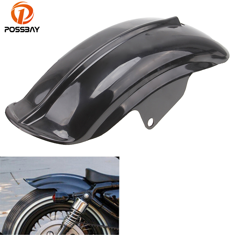 POSSBAY Motorcycle Rear Mudguard Fender Accessory Superior Mudguard for Harley Sportster 833 1200 XL Bobber Chopper 1994-2003 black silver motorcycle superior rear mudguard fender accessory for 1994 2003 harley sportster 883 883r 1200