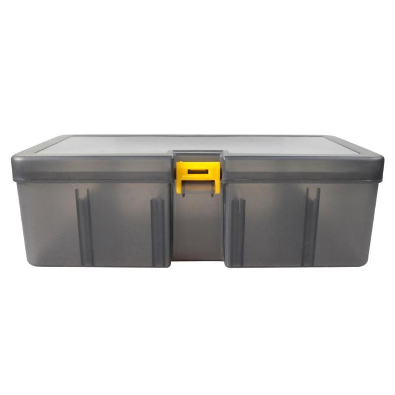 Plastic Dual Layer Waterproof Fishing Tackle Box Lures Bait Storage Case Cover Organizer Container Accessories