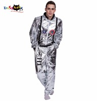 Men Astronaut Alien Pop Dancer Stage Costume Carnival Christmas Party Club Adult Male Outfits Clothing Halloween