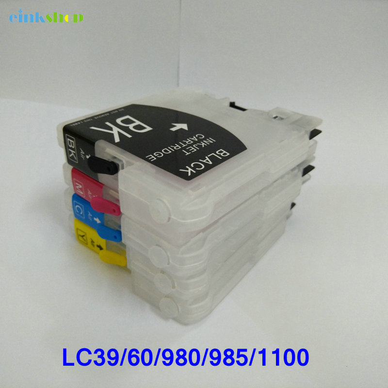 For brother LC39 LC980 lc60 LC985 LC1100 short Refillable ink Cartridge for Brother MFC-J220 DCP-J315W J125 J515W MFC J415W refillable ink cartridge for brother lc213 for brother mfc j4410dw j4510dw j4610dw j4710dw j470dw j6920dw dcp j4110dw j132w