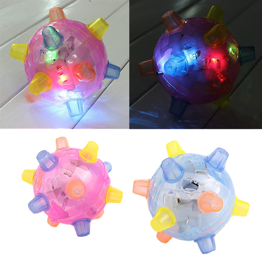 LED Jumping Joggle Sound Sensitive Vibrating Powered Ball Game Kids Flashing Ball Toy