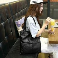 2017 New Women Leather Handbags Louis Handbags Fashion Simple High Capacity Waterproof Tote Bag Girls Shopping
