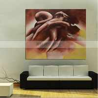 2018 big size 100% Handpainted nude Oil Paintings On Canvas Wall Decor Wall Pictures sexy women picture For Living Room decor