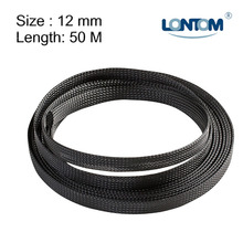 Mini Spool 12 mm 50M PET Braided Expandable Auto Wire Cable Sleeve High Quality