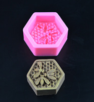 Bee Honeycomb Silicone Soap Molds Fondant Chocolate Cake Mold Resin Clay Candle Moulds DIY Kitchen Baking Cake Tools E925 2