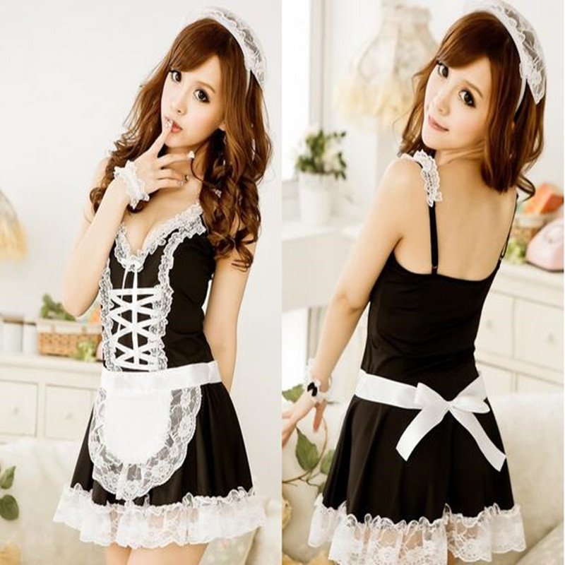 266 Good Quality Sexy Game Cosplay Outfits Babydoll Sexy dresses Sexy Nightwear wholesale Role play Sexy Costume Maid