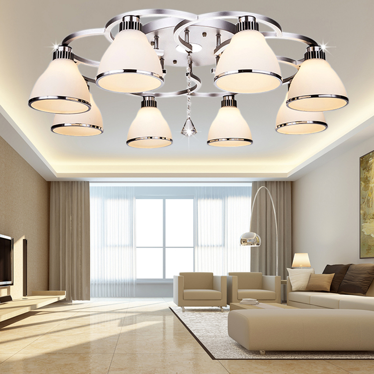 все цены на Simple modern Crystal Light LED Round Ceiling lights living room restaurant bedroom study Lighting онлайн