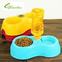Dual Port Dog Automatic Water Dispenser Feeder Utensils Bowl Cat Drinking Fountain Food Dish Pet Bowl
