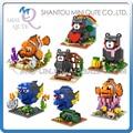 Mini Qute kawaii LOZ Finding Nemo Marlin Charlie Dory cartoon japonés Kumamon oso de plástico bloques de construcción de juguetes educativos