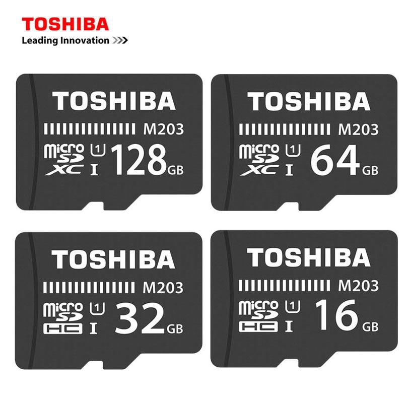 TOSHIBA Micro SD Carte 128 GB 64 GB SDXC Classe 10 UHS-I U3 Carte Mémoire SDHC 16 GB 32 GB TF/microsd SD Micro Carte