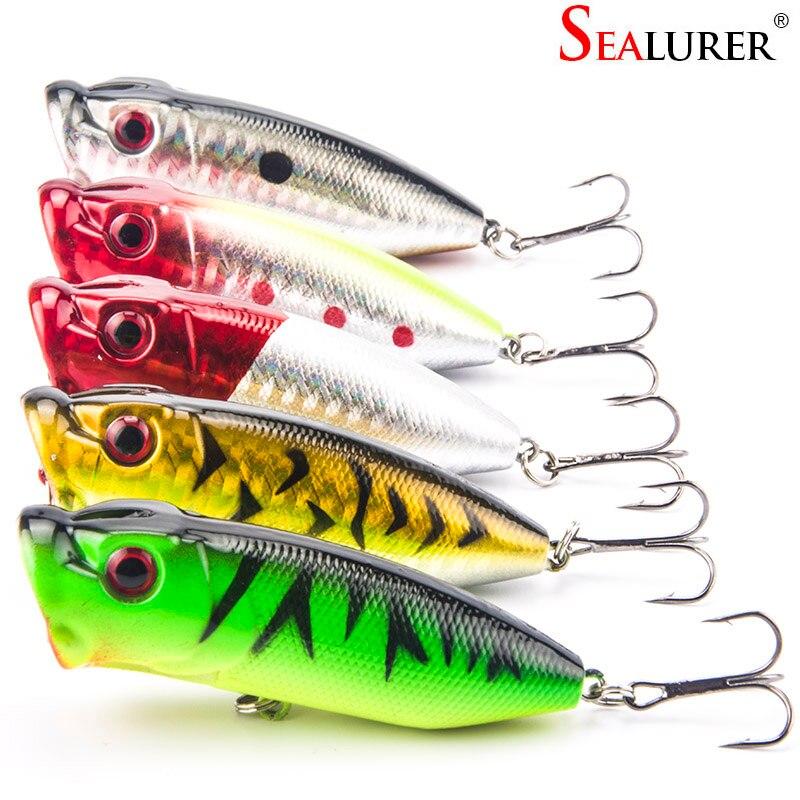 5Pcs Lot Lifelike 3D Eyes 6 5CM 13G 6 Treble Hooks font b Fishing b font