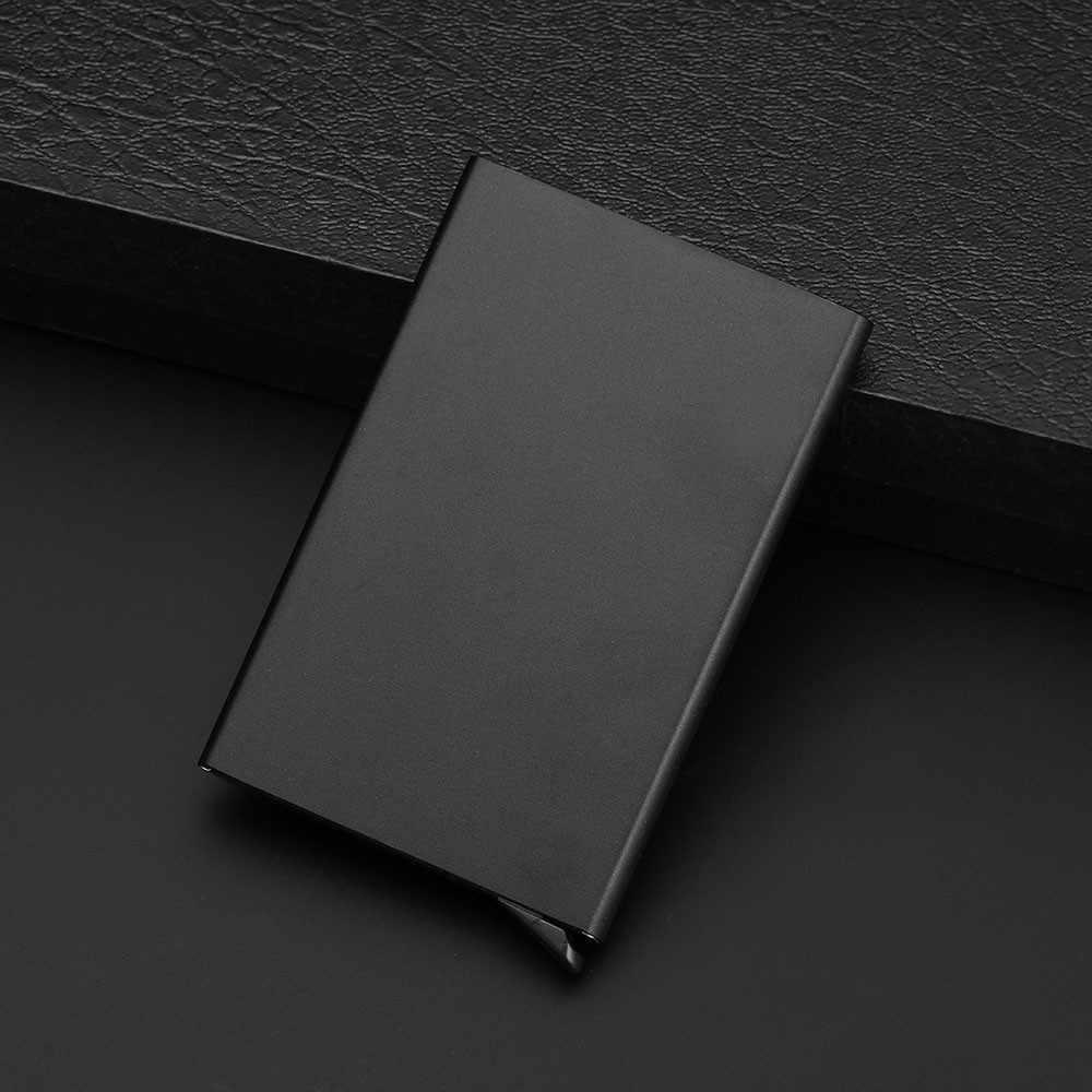 Neue porte PU thinTop Marke Business ID Kreditkarte halter Brieftaschen Pocket Case Bank Kreditkarte Paket Fall Karte Box