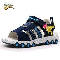Dinoskulls Kids Sandals Kids Slides Shoes Boys Sandals Dinosaur Led Light Up Beach Sandals Children Summer Shoes 27 32