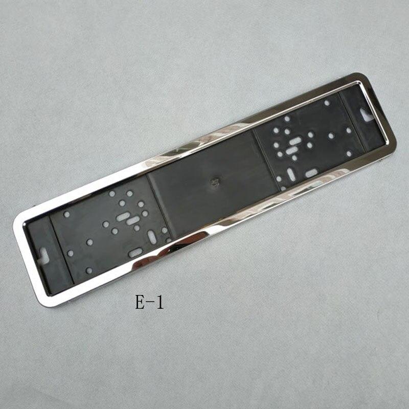 1pcs Car License Plate Frame metal and Plastic frame Car License Plate Frame Number plate Holder Fit EU (5)