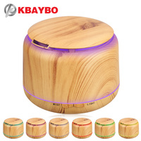 300ml Ultrasonic Humidifier Aroma Essential Oil Diffuser Wood Grain Cool Mist Humidifier Aromatherapy Diffuser With 7