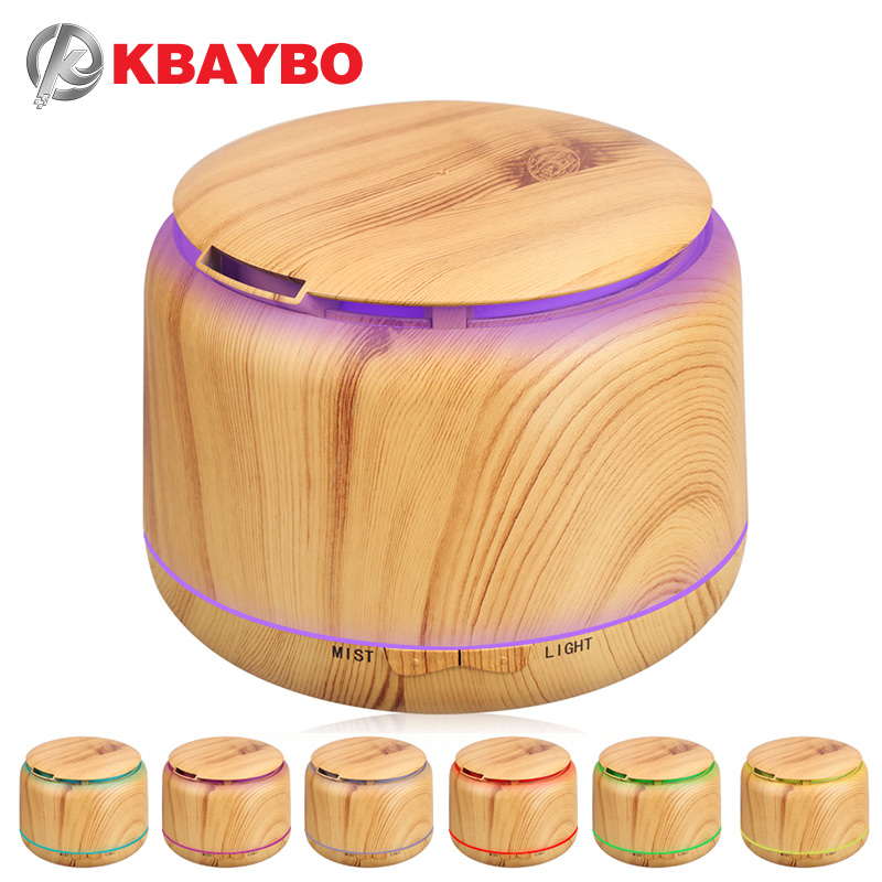 300ml Ultrasonic Humidifier Aroma Essential Oil Diffuser Wood Grain Cool Mist Humidifier aromatherapy diffuser With 7 Color LED цена и фото