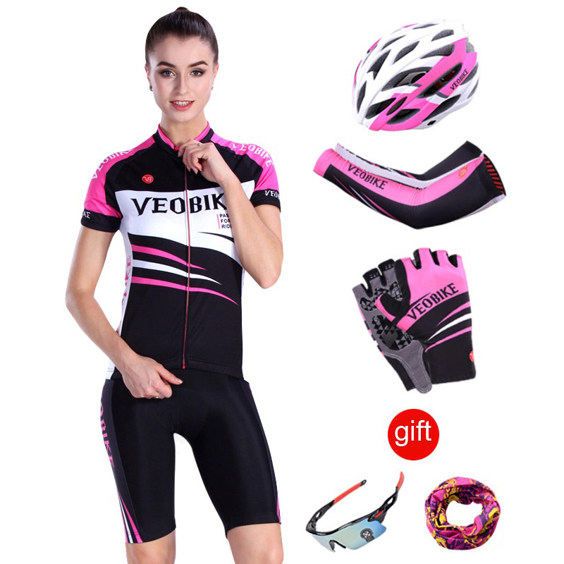 2018 Pro Team Summer Women Cycling Jersey Set Female Mountain Bike Clothing MTB Bicycle Clothes Wear Sports Short Sleeve Suit
