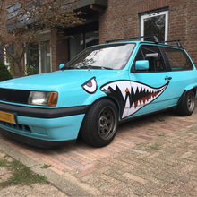 Car Body Shark Sticker Auto Shark Teeth Modification Sticker Boat Modified Car Decal Car Styling Cool Shark Mouth Sticker 1 Pair(China)