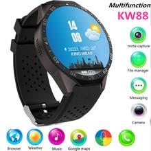 Nueva KW88 Reloj Inteligente 1.39 Pulgadas MTK6580 Quad A Core 1.3 GHZ Android 5.1 3G Reloj Inteligente 400 mAh 2.0 Mega Pixel Monitor de Ritmo Cardíaco 33