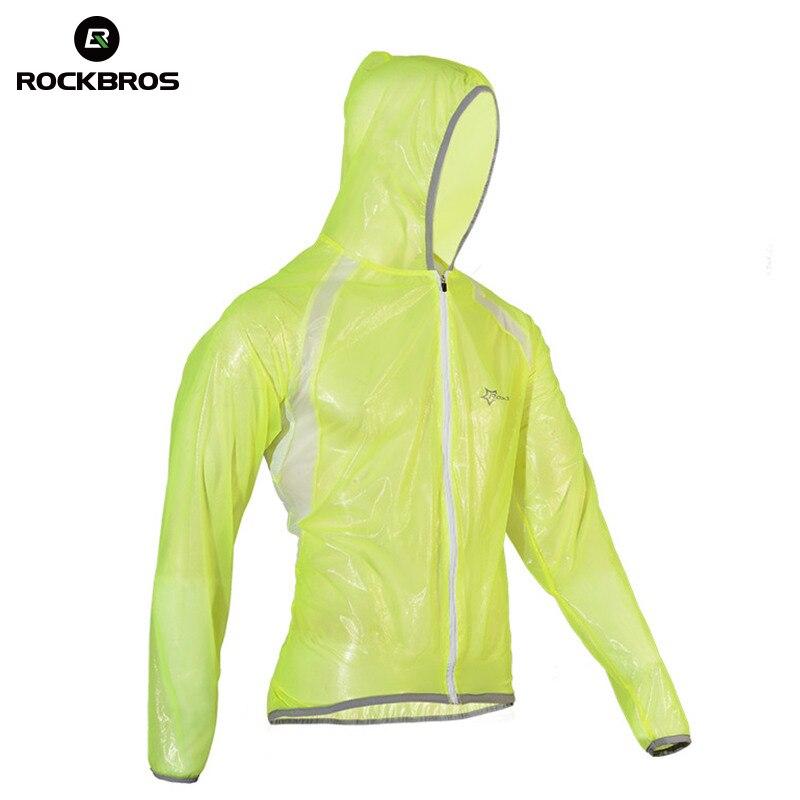 цена на ROCKBROS Waterproof Hiking Jackets TPU Raincoat Cycling Jersey Rain Coat Bike Bicycle Jersey Fishing Men Women Camping Jackets