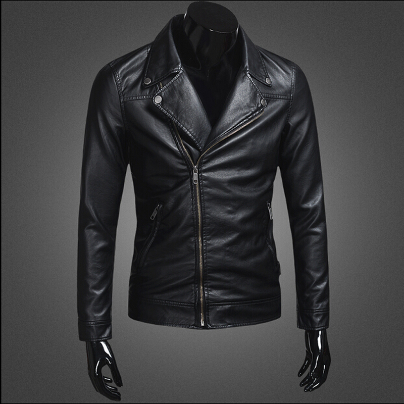 top design european men s slim motorcycle leather jacket