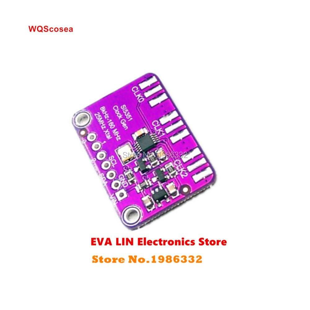 US $5 94 |WS16 Si5351A CLOCK GENERATOR Module 8KHz to 160MHz Si5351 Signal  Generator Clock Breakout Board for ARDUINO MCU 3 3/5V I2C 10ppm-in